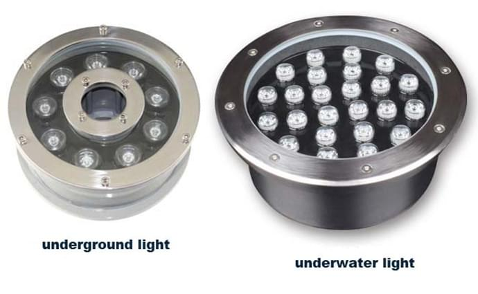 The precaution needed in installing and constructing underground lights